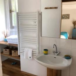 Salle de bains - chambre l'Atelier - VIRAC -Tarn - Chambre d'hôtes - Virac