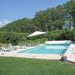 Jardin , piscine - Lisle Sur Tarn - Tarn - Chambre d'hôtes - Lisle-sur-Tarn