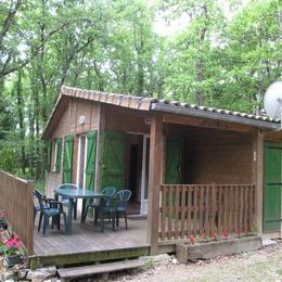 Terrasse chalet et salon de jardin - Penne - Tarn - - Location de vacances - Penne