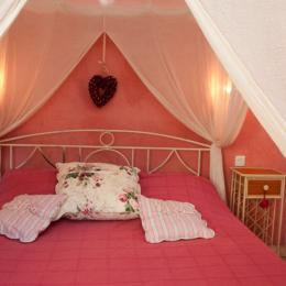 Chambre Rose au rez de chaussée- lit en 160 cm - Location de vacances - Loubers
