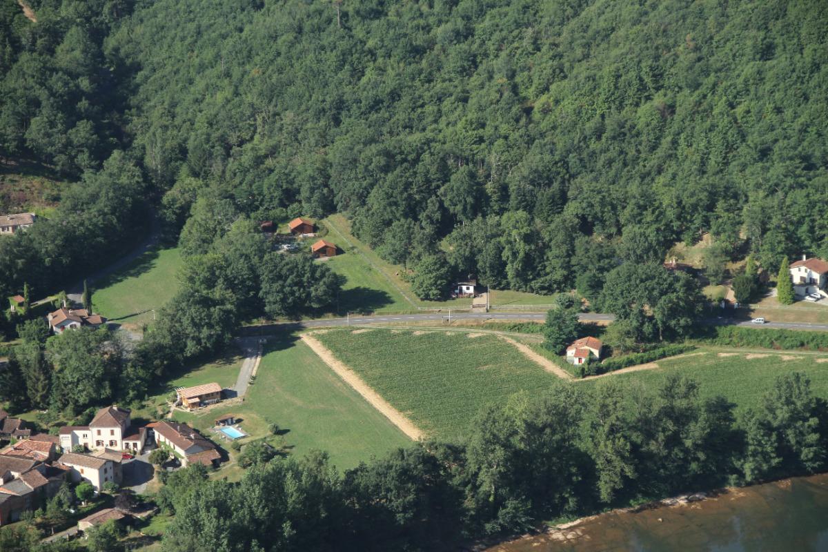Vue d'ensemble des chalets - Vallée du Tarn - Albigeois et Bastides -Ségala Monts de l'Albigeois - Location de vacances - Bellegarde-Marsal