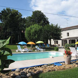 vue de la piscine  -Tarn - Venès - - Location de vacances - Vénès