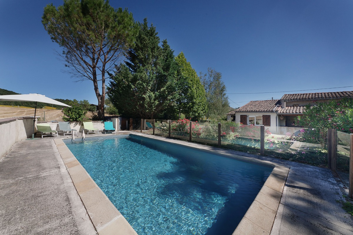 Maison De Pays Indpendante  Km Village Mdival Lautrec Piscine