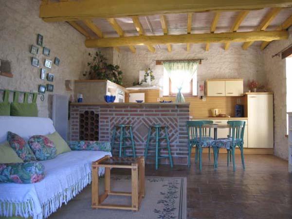 Pièce a vivre, cuisine ouverte  - Castelnau-de-lévis - Tarn - Location de vacances - Castelnau-de-Lévis