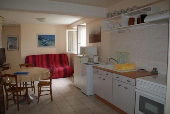 Pièce de vie avec coin cuisine et salon  - Ronel - Tarn - - Location de vacances - Ronel