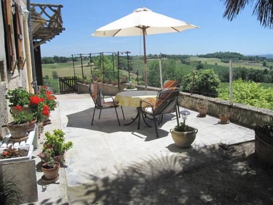 Vue terrasse- Senouillac - Tarn - Location de vacances - Senouillac