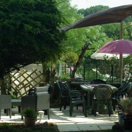 terrasse extérieure - Location de vacances - Monestiés