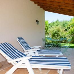 Terrace derrière - Location de vacances - Ambres