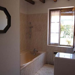 salle de bains avec lave linge - Lisle sur Tarn - Tarn - Location de vacances - Lisle-sur-Tarn