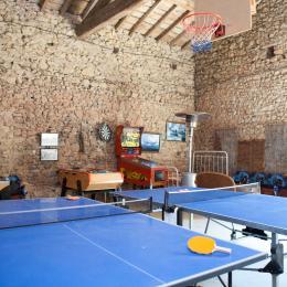 Verger de l'Espargne - une salle de jeux spacieuse pour des compétitions familiales et amicales - Location de vacances - Saint-Germier