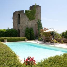 Vue de la piscine - Venès - Tarn - - Location de vacances - Vénès