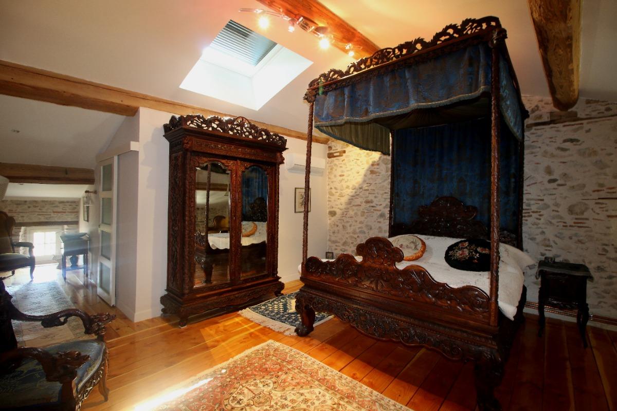 Maison d'hôtes La Boal - Chambre Bérengère Tarn à Dourgne  (2ème étage - côté rue) - Chambre d'hôtes - Dourgne