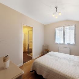 Gîte PAUMAJOLY Chambre 1 : 2 lits de 80  ou 1 lit de 160 à Saïx près de Castres dans le Tarn. - Location de vacances - Saïx