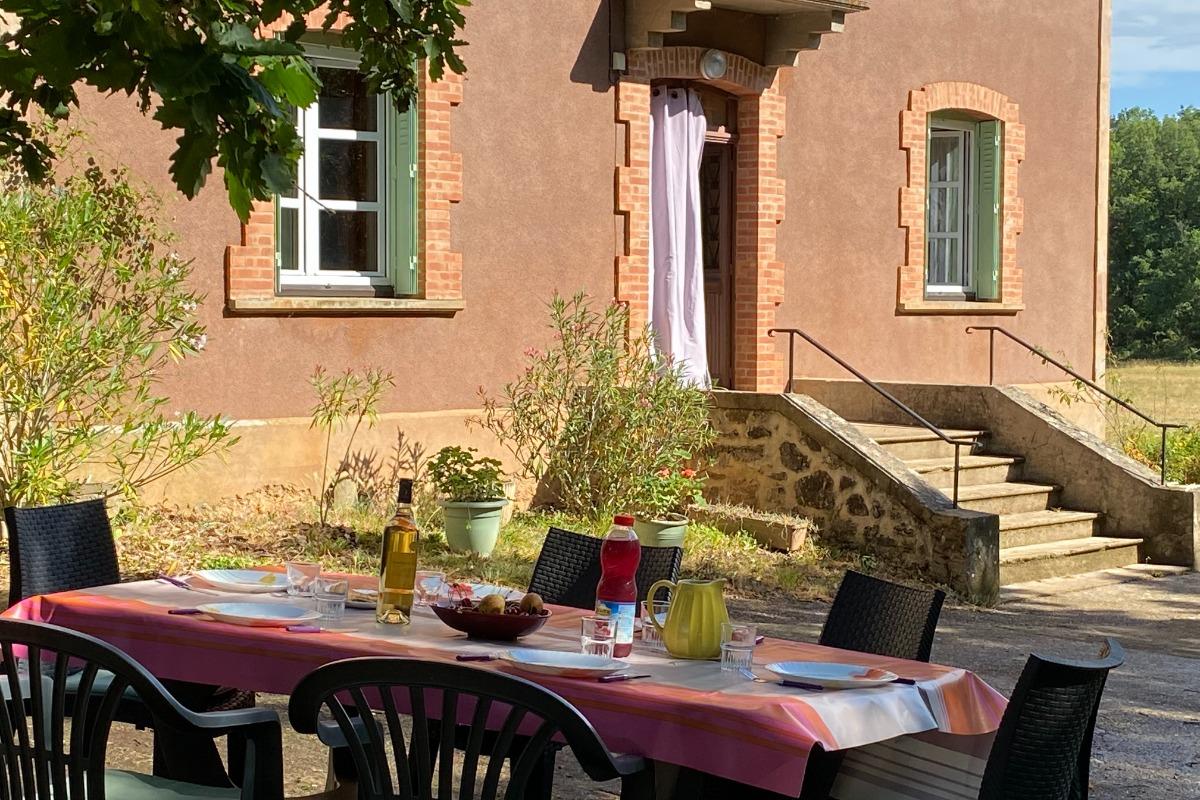 Vue de la terrasse - Location de vacances - Tonnac