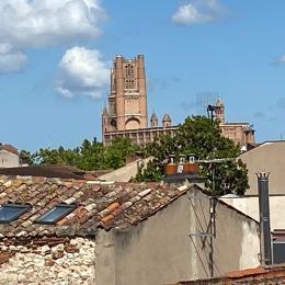 Vue de la terrasse sur la cathédrale d'Albi - Location de vacances - Albi