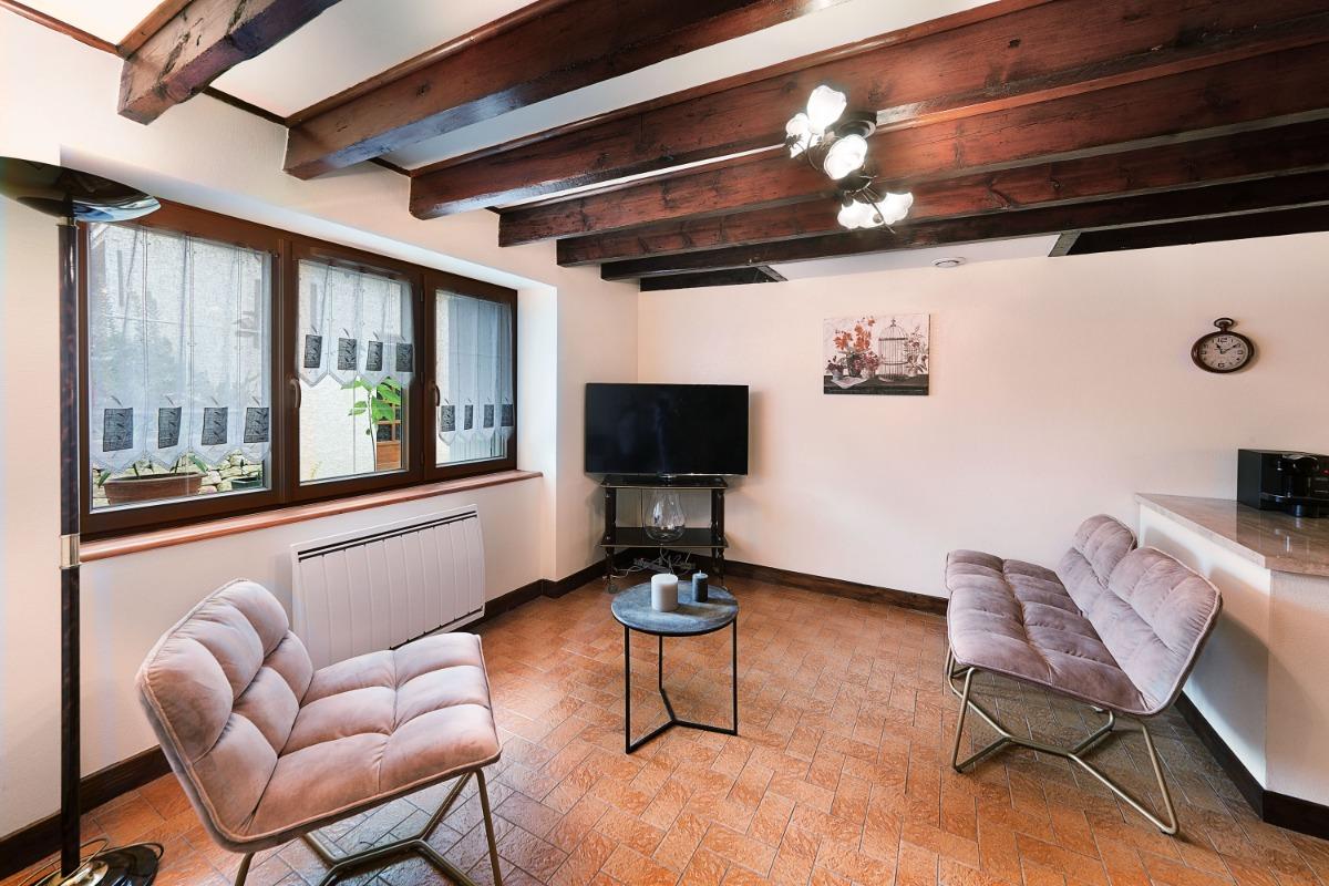Gîte Les Mesanges à Saïx près de Castres dans le Tarn en région occitanie : Pièce de vie - Location de vacances - Saïx
