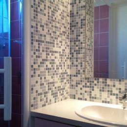 Salle d 'eau avec vasque et grande douche - Location de vacances - Montpezat-de-Quercy