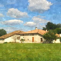 maison vue de derrière - espace liberté - Location de vacances - Caussade