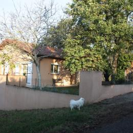 Vue extérieure du gite -  jardin clos, individuel animaux domestiques bienvenus - Location de vacances - Moissac