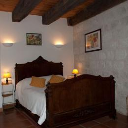La chambre du rez de chaussée - Location de vacances - Montjoi