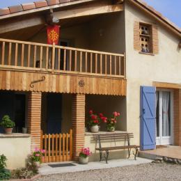 Entrée coté cour - Location de vacances - Saint-Aignan