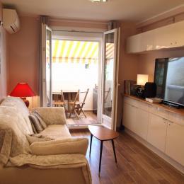 le salon et la terrasse - Location de vacances - Saint-Cyr-sur-Mer