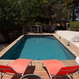 Bastide 8 personnes, piscine, jacuzzi, billard à Saint Cyr sur Mer, la piscine - Location de vacances - Saint-Cyr-sur-Mer