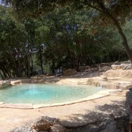 piscine au sel avec cascade espace détente - Location de vacances - Le Thoronet