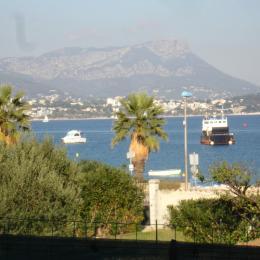 Effet  Mer 83 : vue rade de Toulon de la terrasse - Location de vacances - Saint-Mandrier-sur-Mer