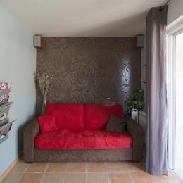 Effet  Mer 83  : le salon, baie vitrée accès terrasse - Location de vacances - Saint-Mandrier-sur-Mer