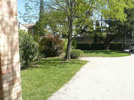 vue sur le jardin depuis la maison - Location de vacances - Jonquerettes