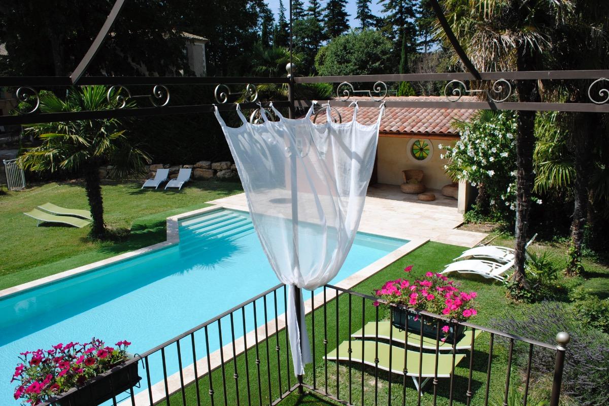 La piscine - Location de vacances - Beaumes-de-Venise