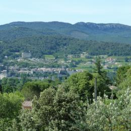 Vue sur la Haute-ville et le château de Vaison la Romaine depuis la terrasse - Location de vacances - Vaison-la-Romaine