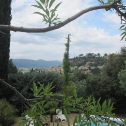 Vue sur le village et la Trévaresse depuis la terrasse - Location de vacances - Cadenet