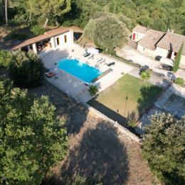 Piscine - Location de vacances - Saumane-de-Vaucluse