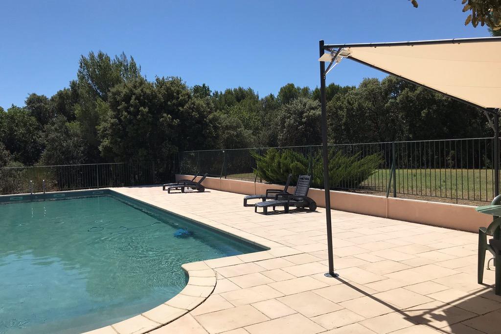 Vue sur Vaison la Romaine depuis la terrasse - Location de vacances - Vaison-la-Romaine
