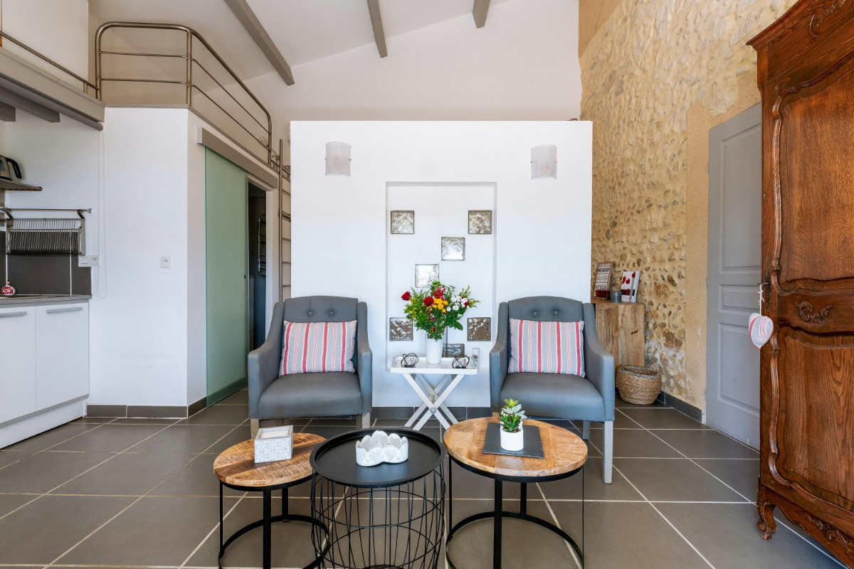 Piscine, terrasse, cuisine d'été  - Location de vacances - Violès