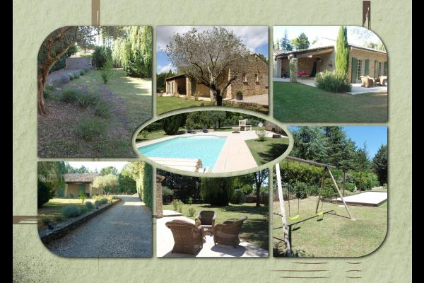 piscine chauffée, balançoire, terrain de pétanque - Location de vacances - Gordes