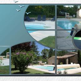 vues de la piscine chauffée - Location de vacances - Gordes