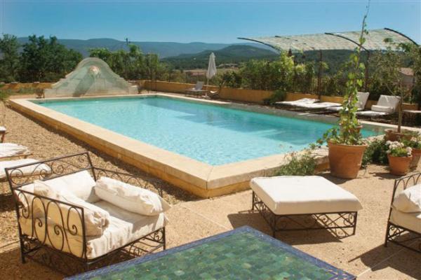 piscine avec vue, pool-house avec bar et cuisine d'été - Chambre d'hôtes - Gargas