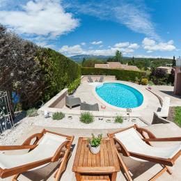 une vue à vous couper le souffle sur le Mont Ventoux  - Location de vacances - Villes-sur-Auzon