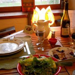 Petit repas de la ferme :) - Chambre d'hôtes - Châteauneuf-de-Gadagne