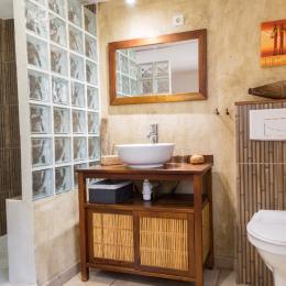 Salle d'eau de la chambre Batik - Chambre d'hôtes - Avignon