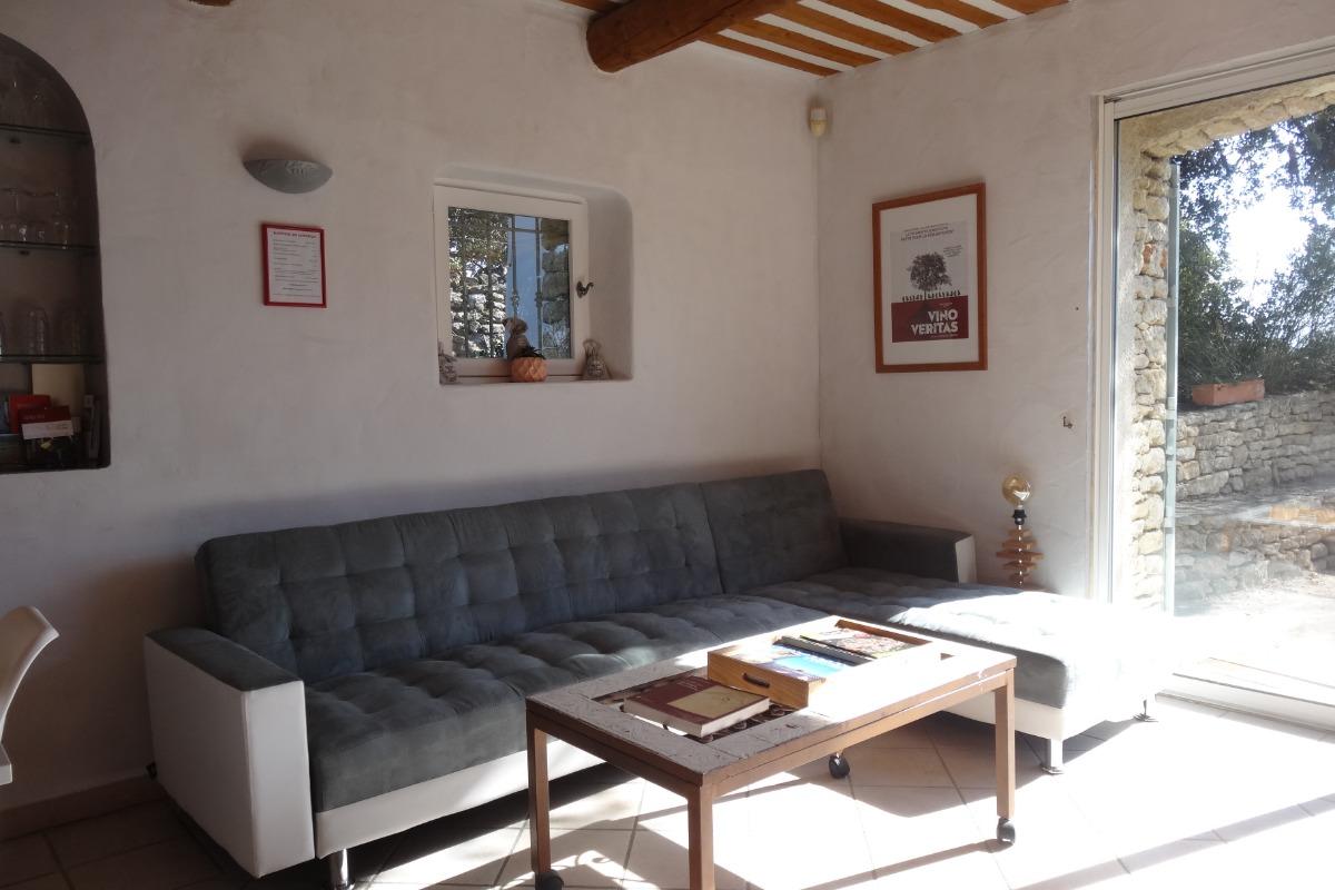 Salon (Crédit MA/Cleva) - Location de vacances - Gordes
