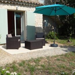La terrasse privative - Chambre d'hôtes - Gordes