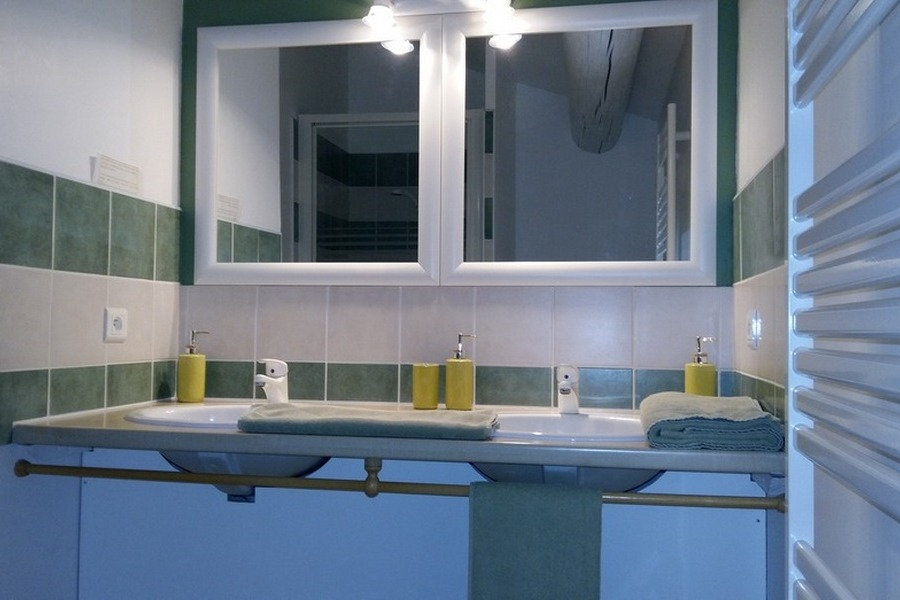 La salle d'eau - Chambre d'hôtes - Gordes