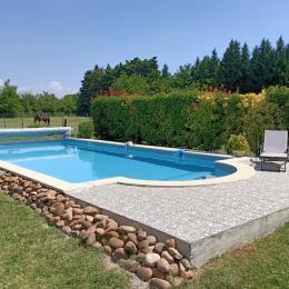 La piscine du Clos de la cigalière - Chambre d'hôtes - Le Thor