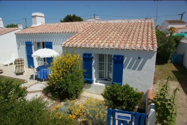 Façade Sud + Allée emplacement Voitures  (2 bout à bout ) - Location de vacances - Noirmoutier en l'Île