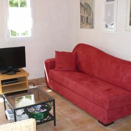 Le séjour et son canapé méridienne - Location de vacances - Noirmoutier en l'Île