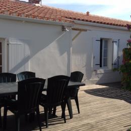 terrasse  - Location de vacances - La Guérinière